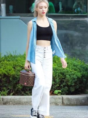 White Wide-Leg Jeans | Yuna – ITZY