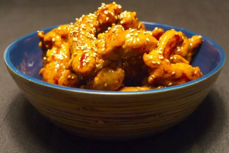 Beignets de poulet caramélisés