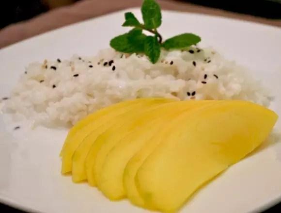 riz gluant lait coco mangue