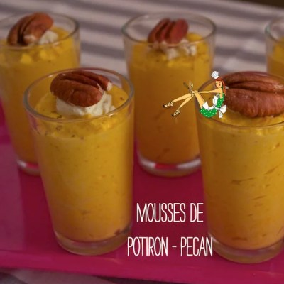 Mousses potiron-pécan
