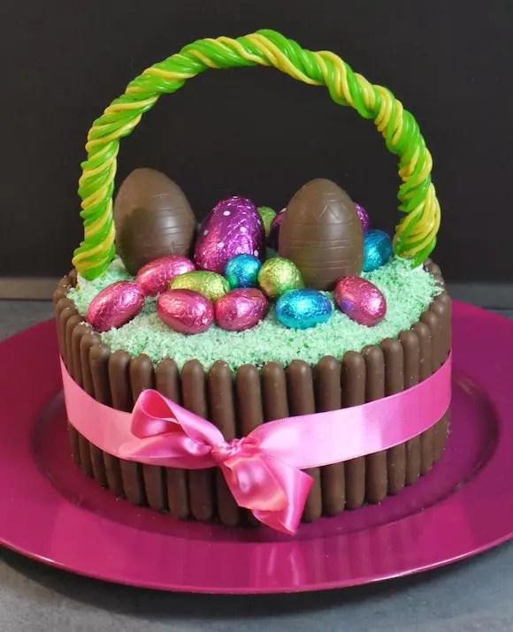 Gateau Panier Oeufs Paques Chocolat