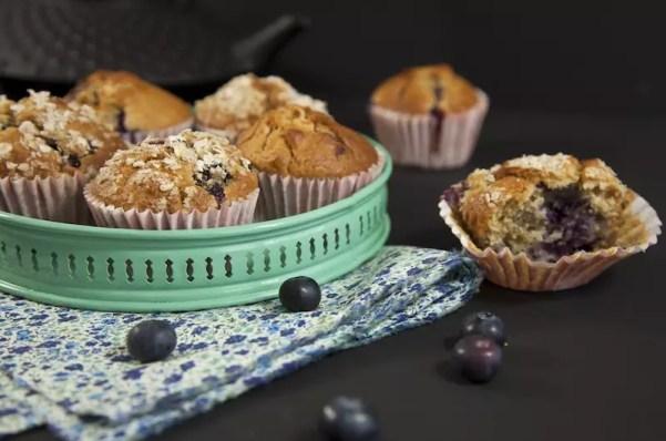 blueberry muffins macadamia chocolat blanc