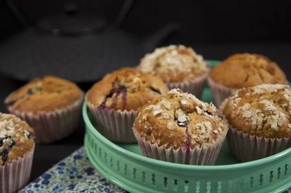 muffins myrtille macadamia chocolat blanc