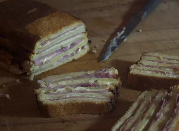 croque monsieur cake