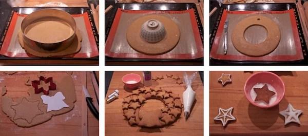 DIY couronne en pain d'épice de noel