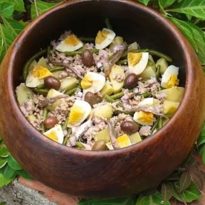 Salade de pommes de terre façon niçoise