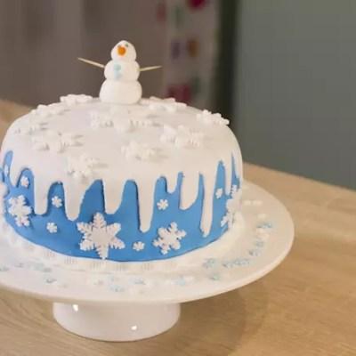 Gâteau thème Reine de neiges