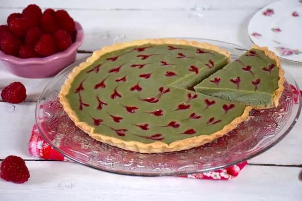 tarte-chocolat-framboise-matcha