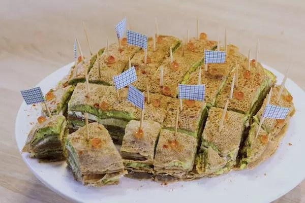 gâteau de crêpes salées saumon-avocat - anne-sophie - fashion cooking
