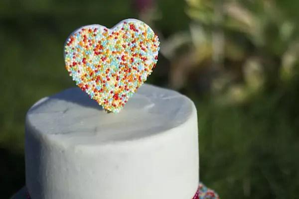 Heart sprinkles cake topper - Cake topper cœur