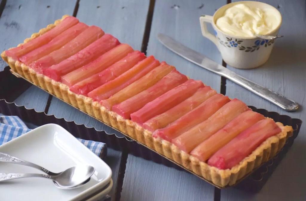 tarte rhubarbe crème d'amandes