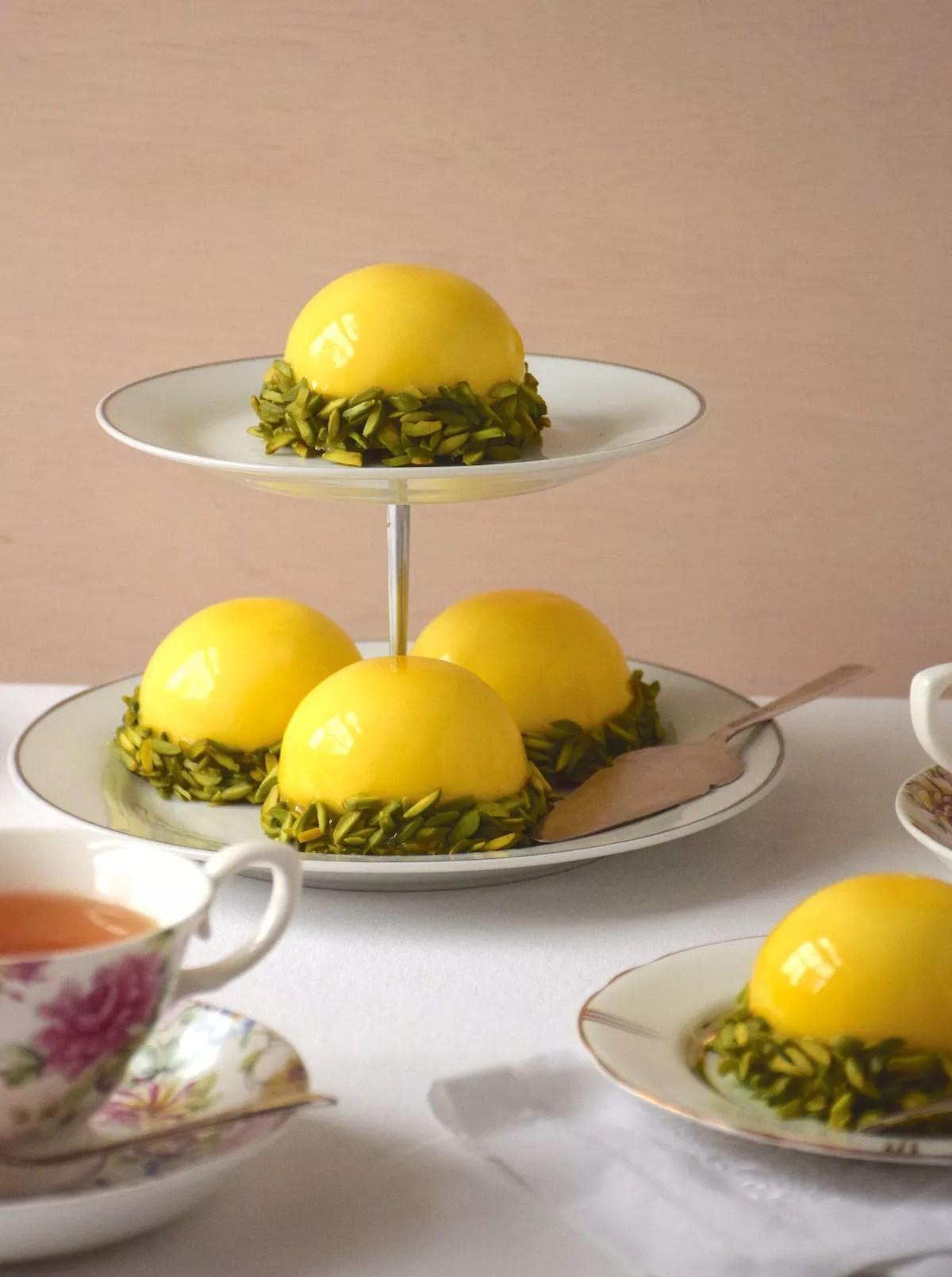 Lemon pistachio domes