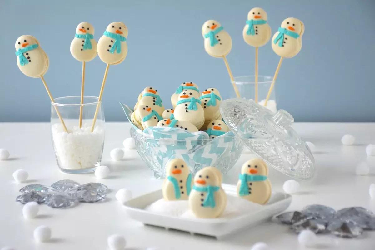 Macarons bonhommes de neige