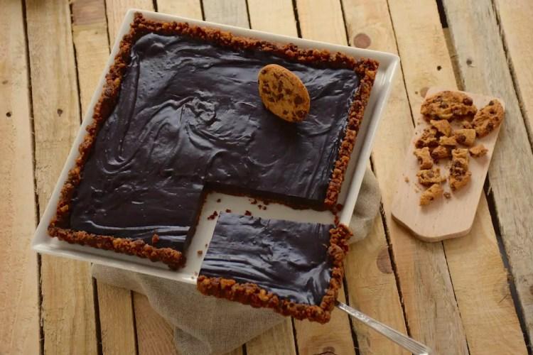 Tarte chocolat base cookies