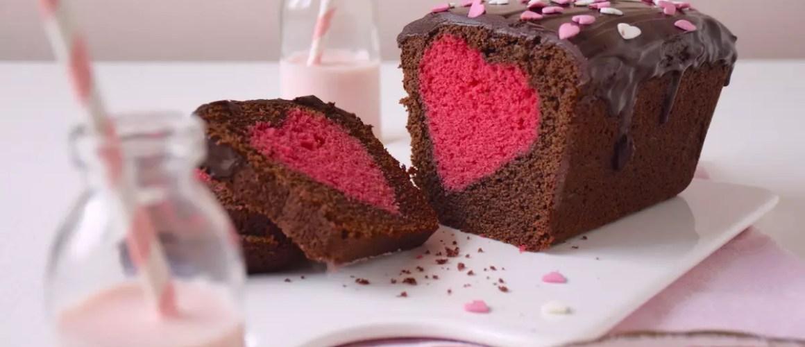 Cœur caché – Cake surprise cœur (St Valentin)