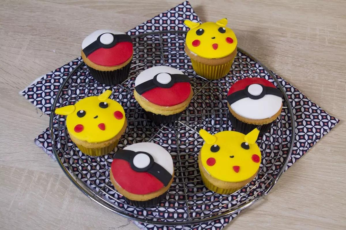 Cupcakes Pokémon (Pikachu & Poké balls)