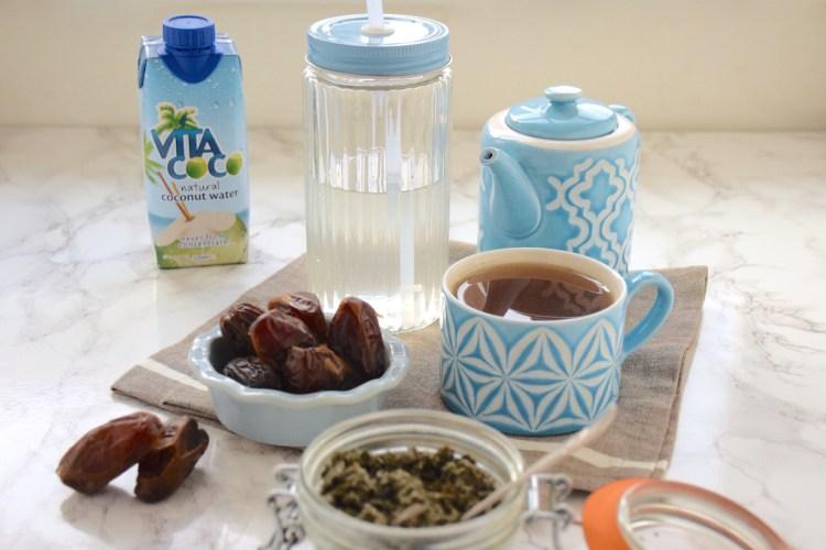 Dattes, feuilles de framboisier & eau de coco – Mon régime pré-accouchement