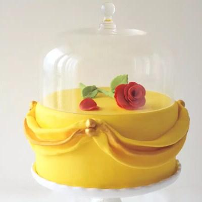 La rose sous son globe – Gâteau Belle et la Bête
