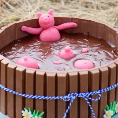 Un bain de gourmandise – Gâteau bain de boue de cochons