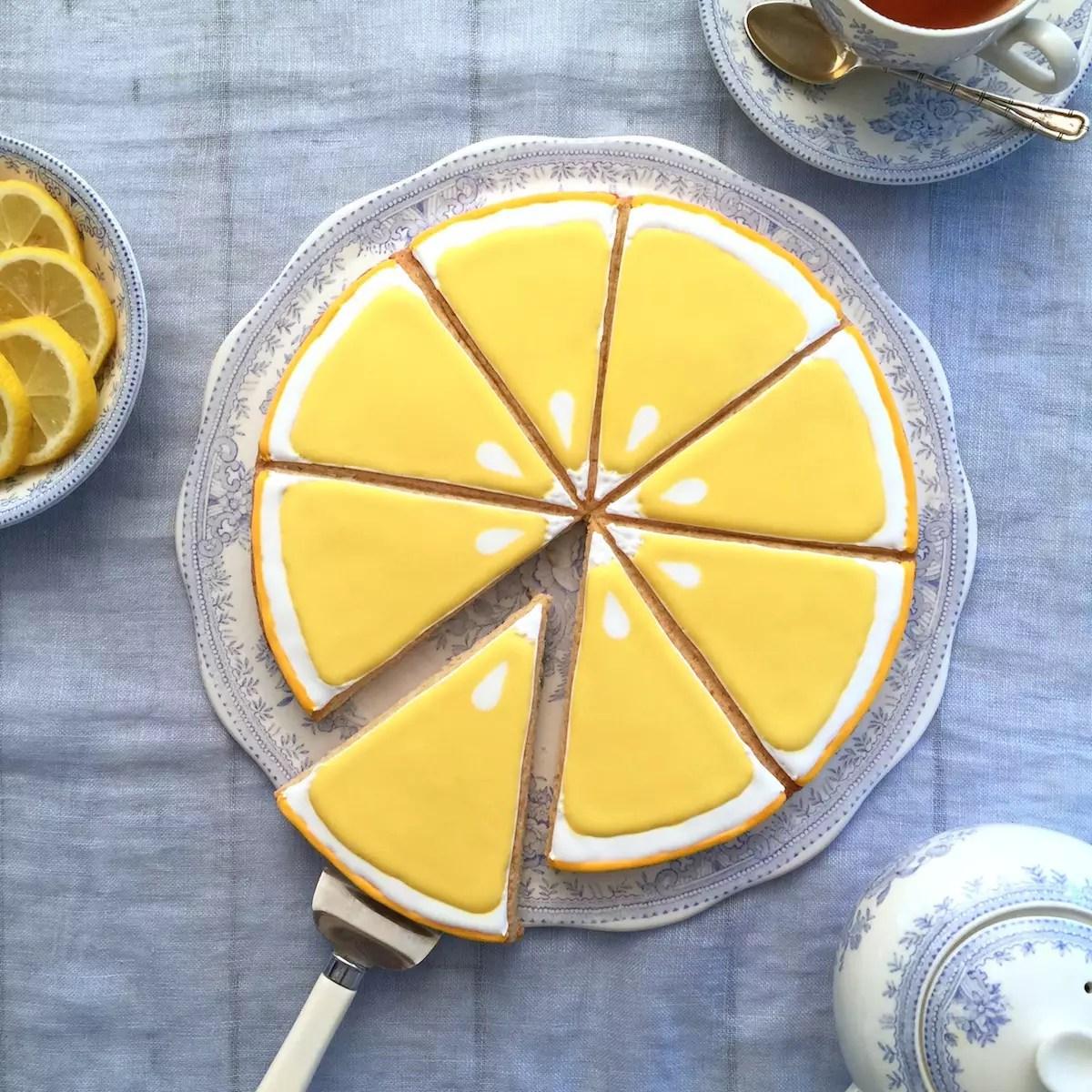 Sablé géant rondelle de citron