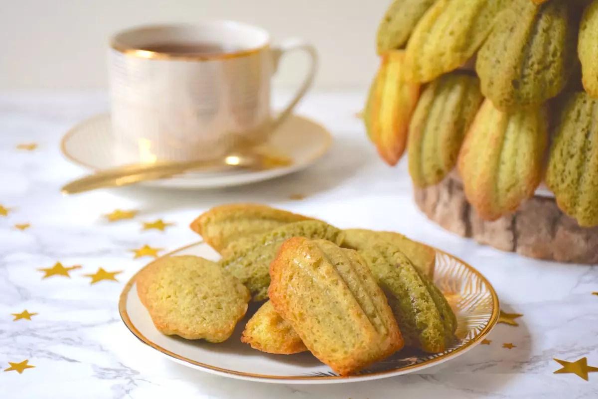 Sapin en madeleines pistache - matcha