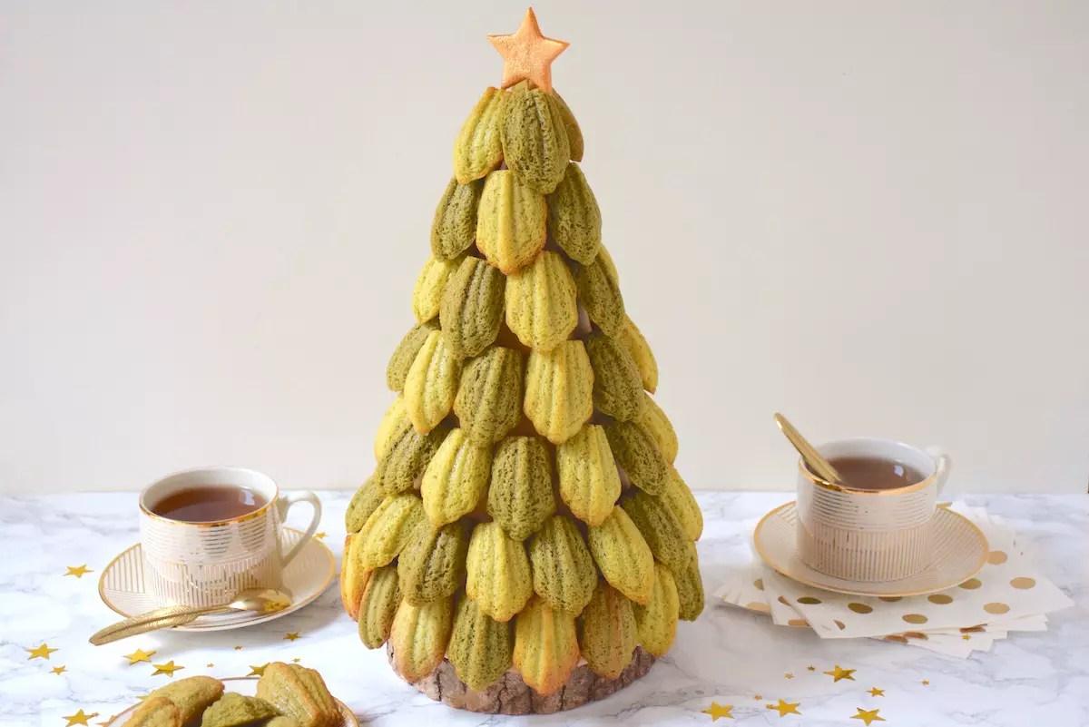 Sapin de Noël de madeleines
