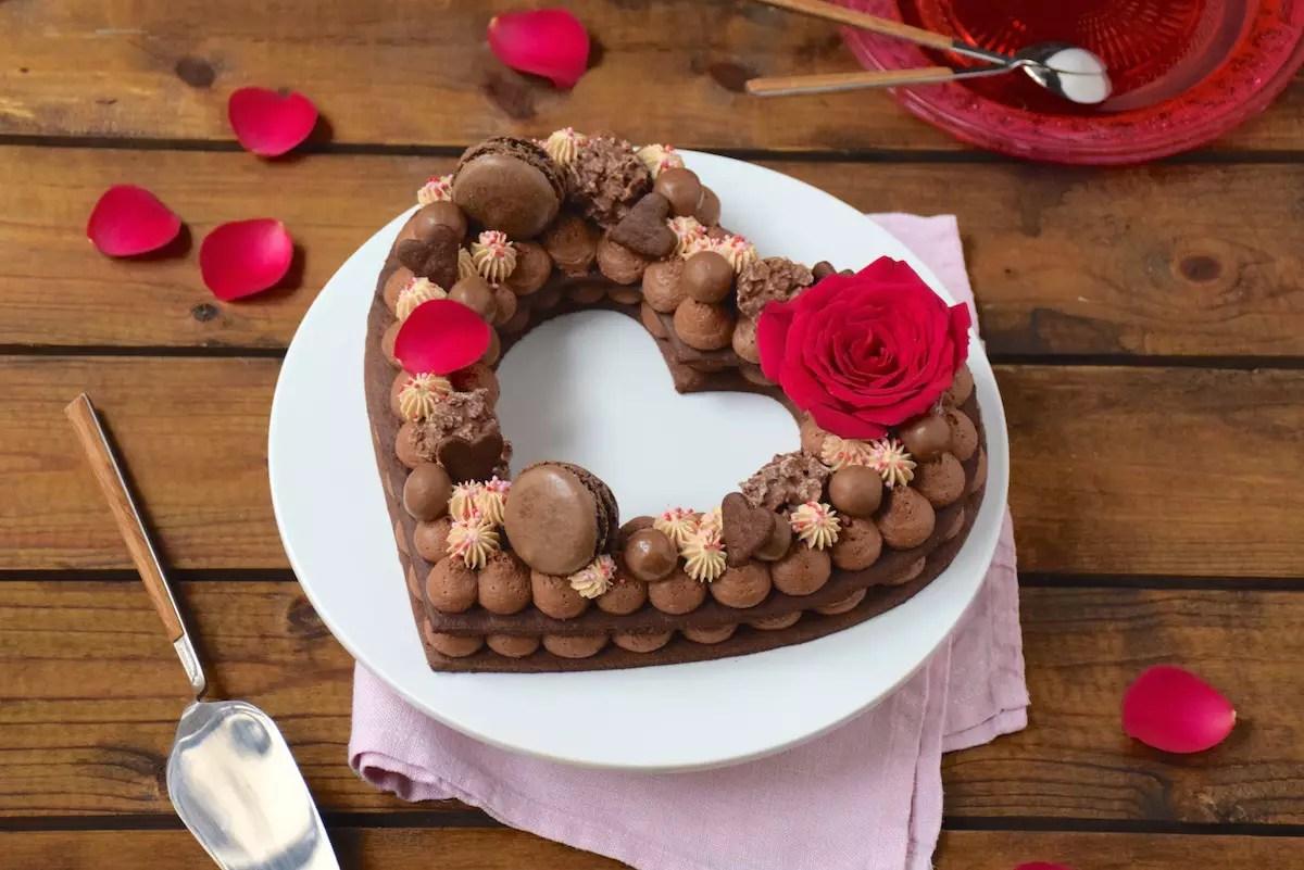 Gâteau Chiffre Coeur Chocolat Carambars