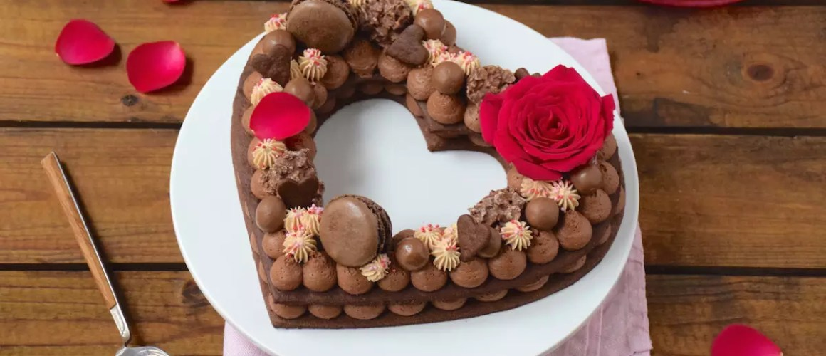 La St Valentin – Gâteau chiffre coeur chocolat-Carambars