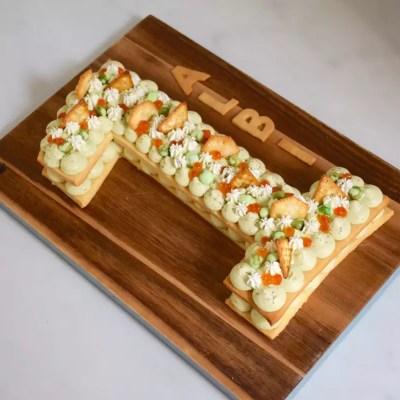 Salé comme du sucré! – Number cake salé avocat-saumon