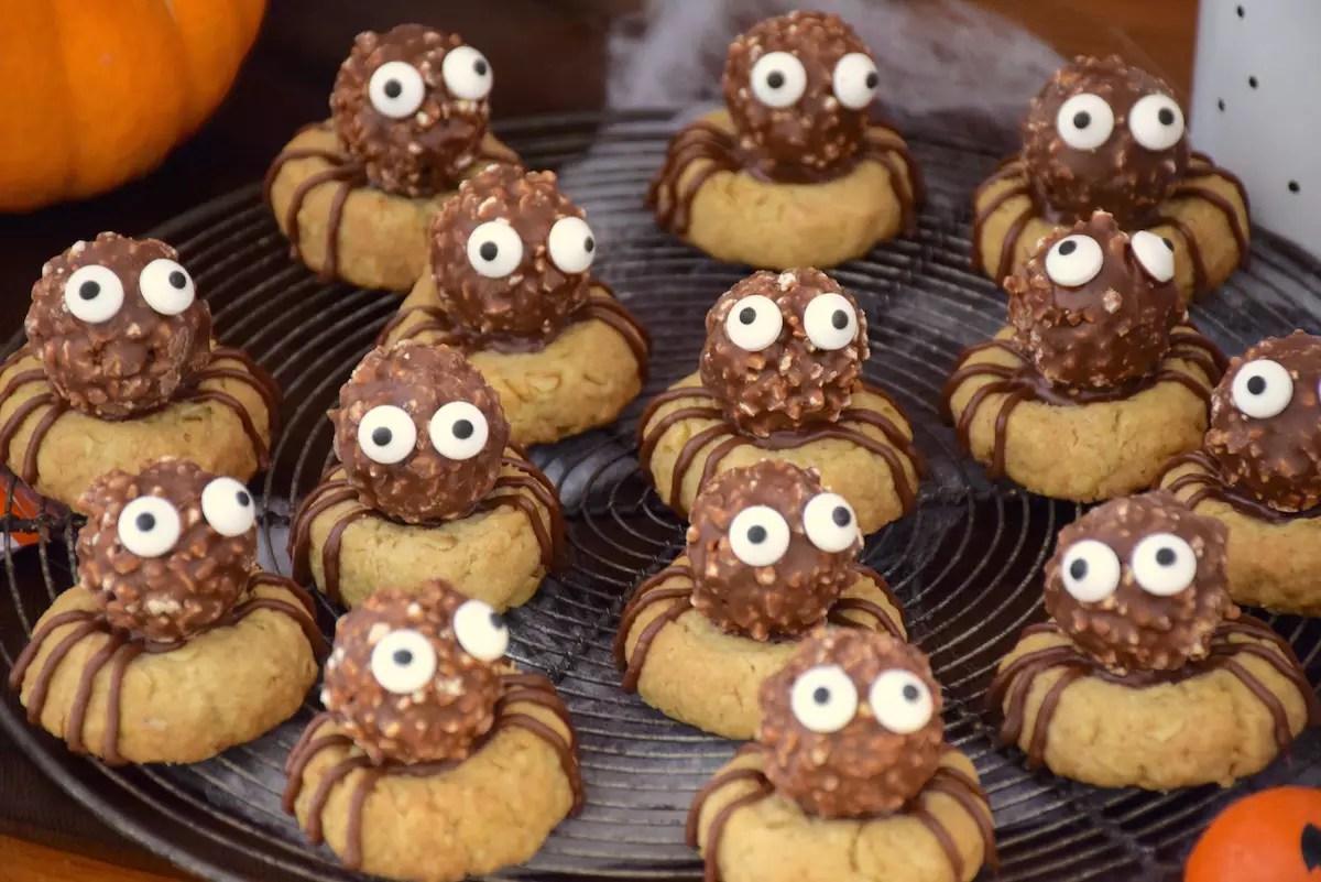 Biscuits araignées d'Halloween