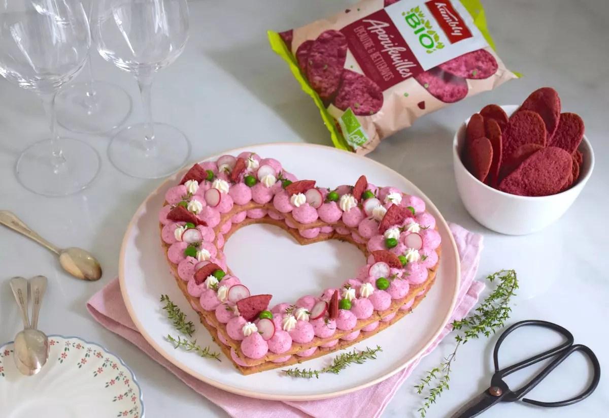 Number cake salé en coeur
