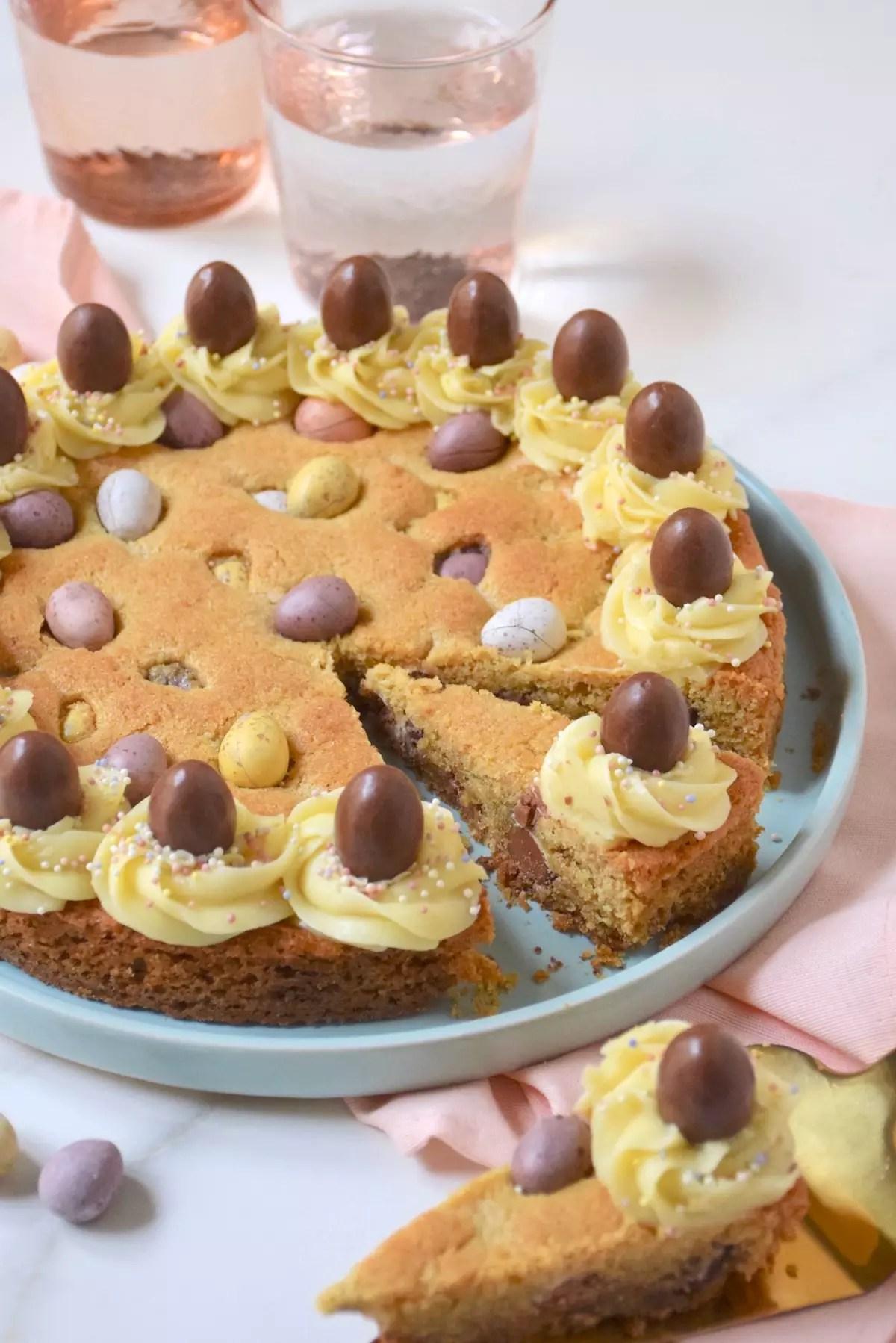 Cookie géant de Pâques & ganache chocolat blanc