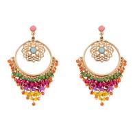Colorful Rhinestone Drop Earrings for Women | Fashion Crab