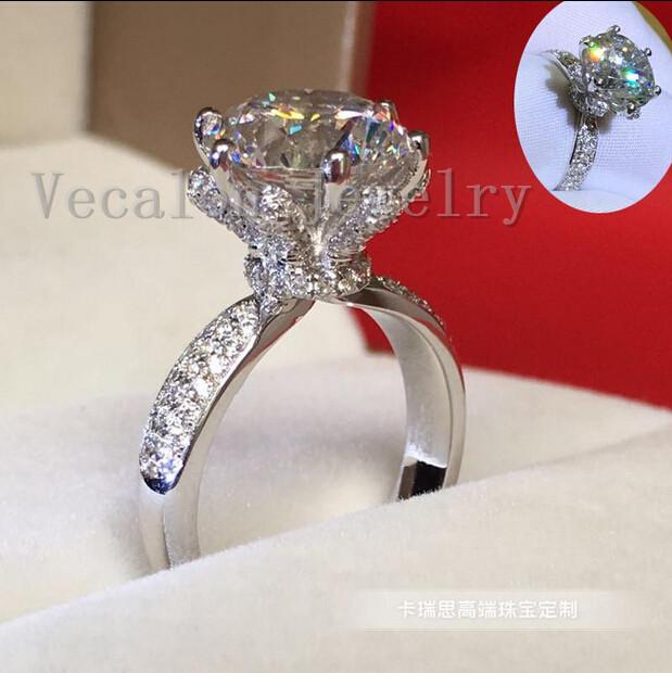 3ct Cz Diamond 925 Sterling Silver Female Finger Ring