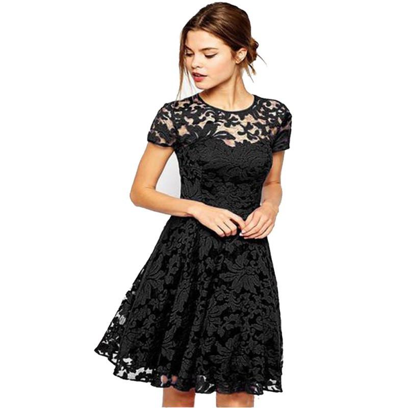 floral short sleeve lace dress fashion design store. Black Bedroom Furniture Sets. Home Design Ideas
