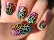 luscious leopard nail art design