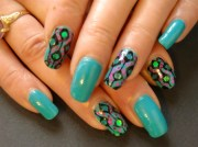 amazing retro nail design