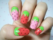 interesting fruit nail design