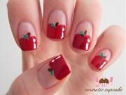 interesting fruit nail design