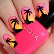sunset nail design ideas