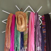 15 DIY Scarf Organizer Ideas