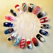 ideas christmas manicure