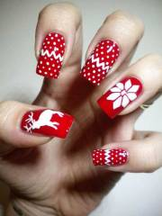 ideas christmas manicure