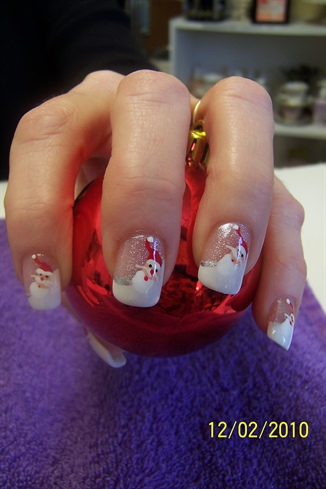 Santa Claus Nail Art Designs