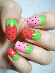 refreshing summer fruit nail