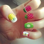 refreshing summer fruit nail