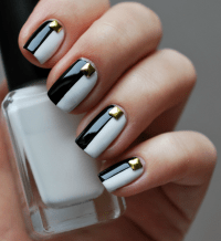 12 Beautiful Black and White Nail Art Designs