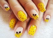 pretty yellow nail design