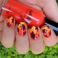 15 Fall Leaves Nail Designs |Amanda's Fashion Outfits