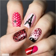love paris nail art design